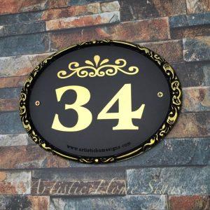 ES-031 Border Sign Antique Gold 34