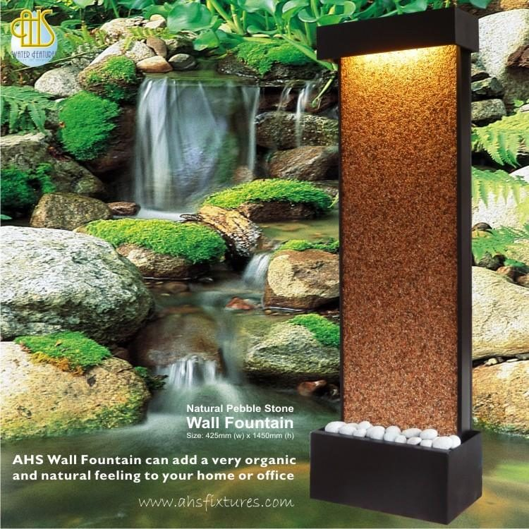 Wall Fountain With Natural Pebble Stone Size: 425mm x 1450mm
