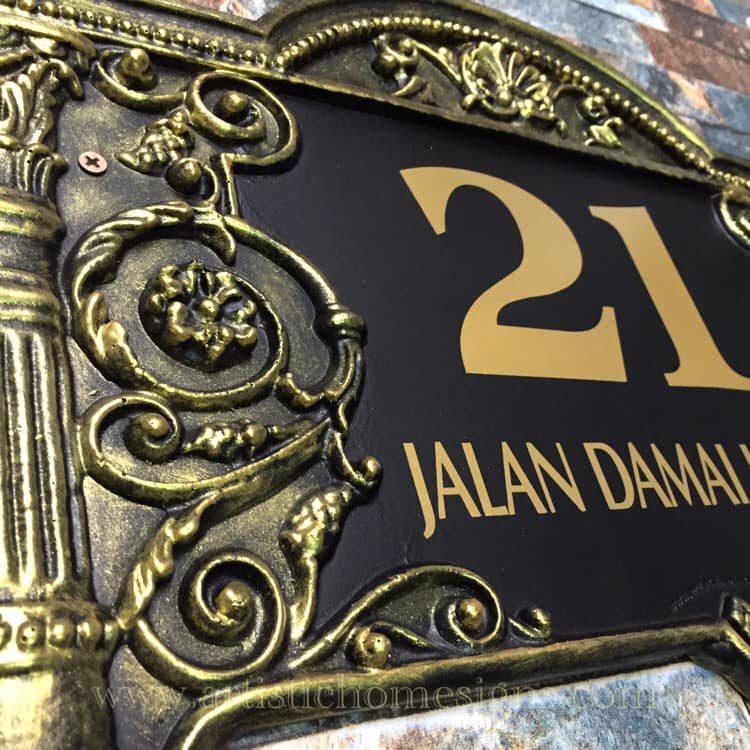LAC-006 Lace Sign 21 Antique Gold