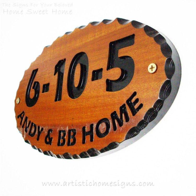 WDO-300 Wooden Sign Black Letters 6-10-5