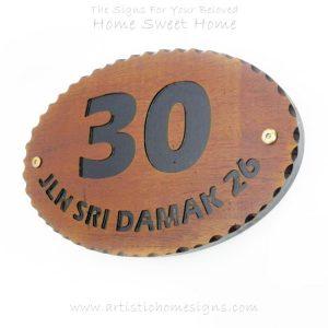 WDO-300 Wooden Sign Black Letters 30