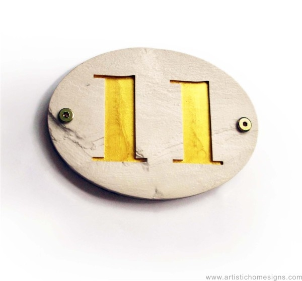 Lime White Stone Gold Letters