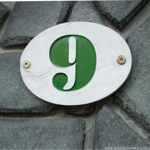 Lime White Stone Green Letters