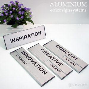 DOR-861 & 862 Aluminium Slatz Door Sign
