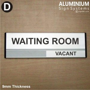 DOR-823 Waiting Room Door Sign