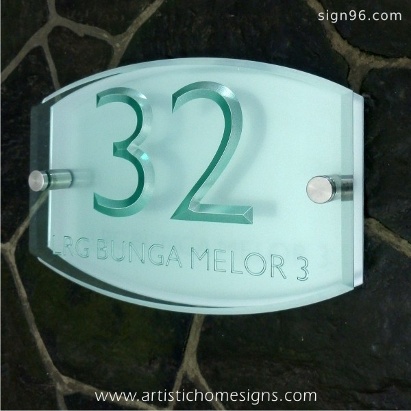 ACA-302 Tinted Green Acrylic Silver Letters & Background Board