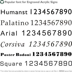 Choice Of Fonts Type
