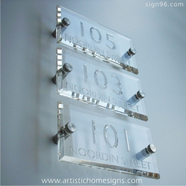 Crystal Clear Acrylic With Clear Letters
