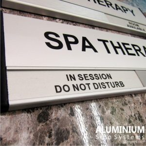 DOR-823 Aluminium SPA Therapy Room Sign