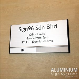 DOR-825 Office Hours Door Sign