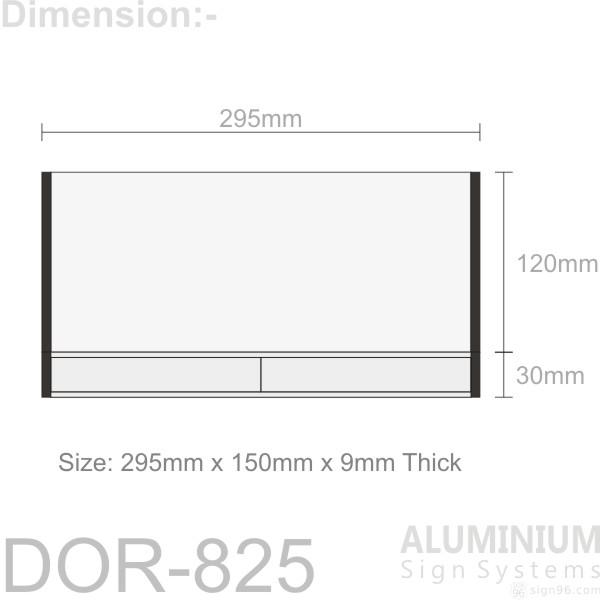 DOR-825 Door Sign Blank