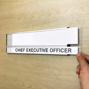 DOR-807 Slider Door Sign Prints With Clear PVC