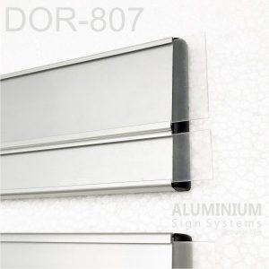 DOR-807 Slider Door Sign Prints With Clear PVC