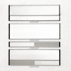 Aluminium Slider Door Sign With Clear PVC
