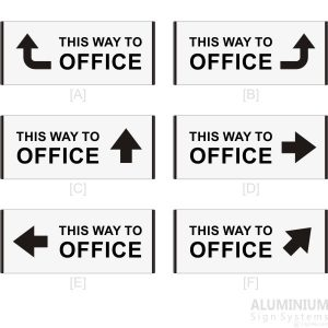 DOR-814 This Way To Office 3 Line Text