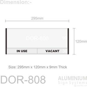 DOR-808 Door Sign Blank