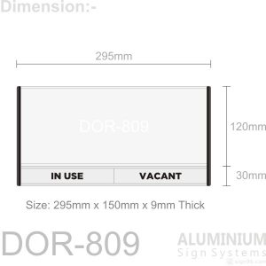 DOR-809 Door Sign Blank