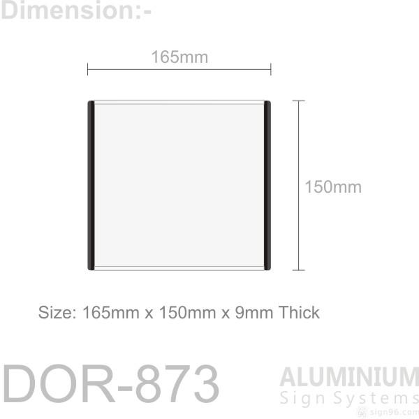 DOR-873 Slider Door Sign