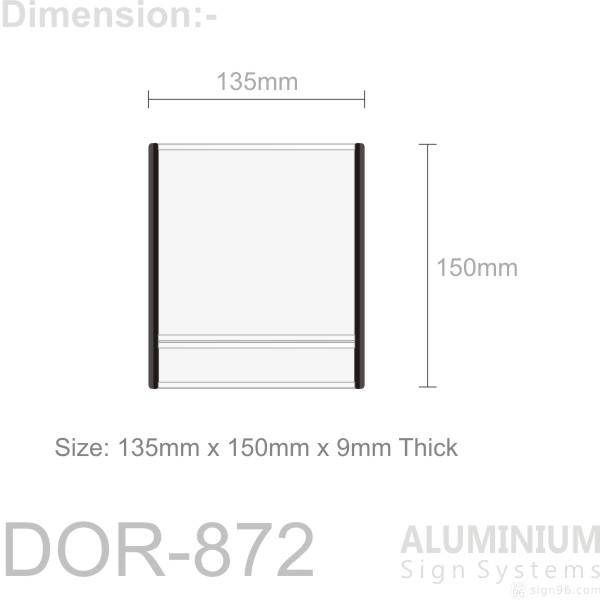 DOR-872 Slider Door Sign
