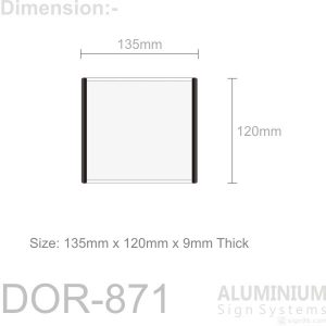 DOR-871 Slider Door Sign