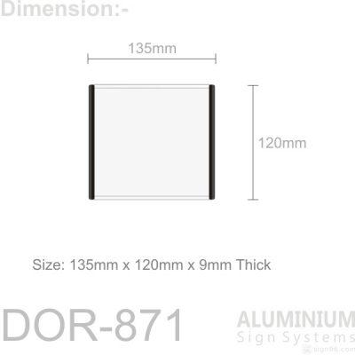 DOR-871 Slider Door Sign