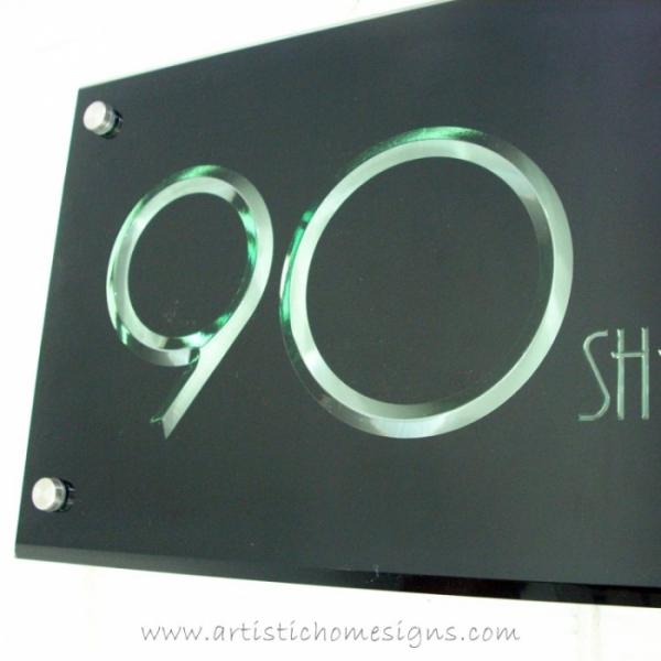 3D Engraving Edge Lit Growing Illuminated Tinted Green Acrylic LED Light Sign