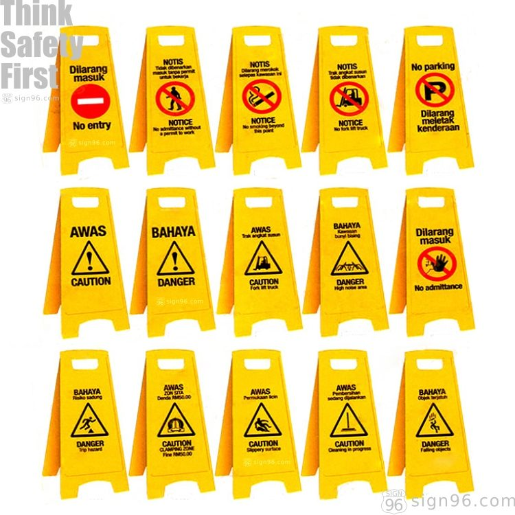 A Shape Standing Safety Signs