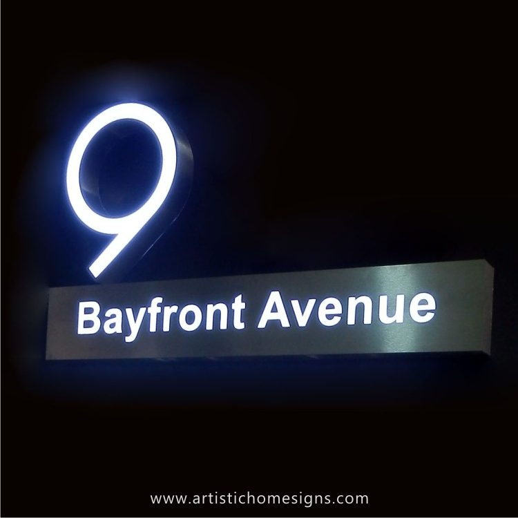 Illuminated Stainless Steel LED Signs.