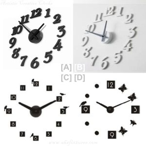 3D Bird & Butterfly Korean DIY Personalized Creative Wall Clock