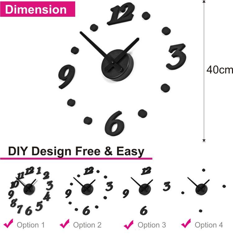 3D Bird & Butterfly Korean DIY Personalized Creative Wall Clock