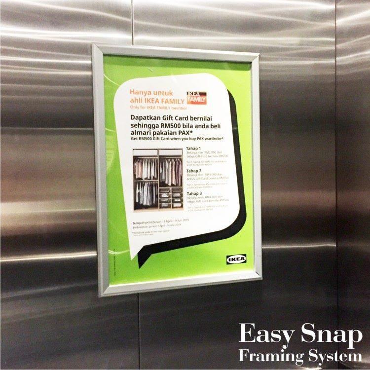 A3 Nexchange Aluminium Snap Frame Ikea 01