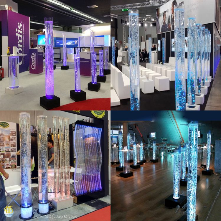 Acrylic Tube Bubble Column Water Features - AHS Fixtures