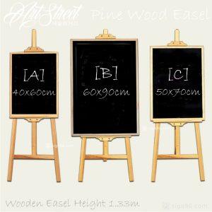 Wooden Easel Black Menu Board Chalkboard