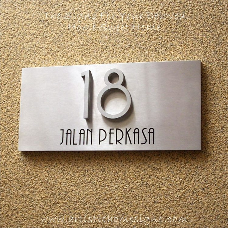3D Stainless Steel Numbers Address Sign Plaque 18