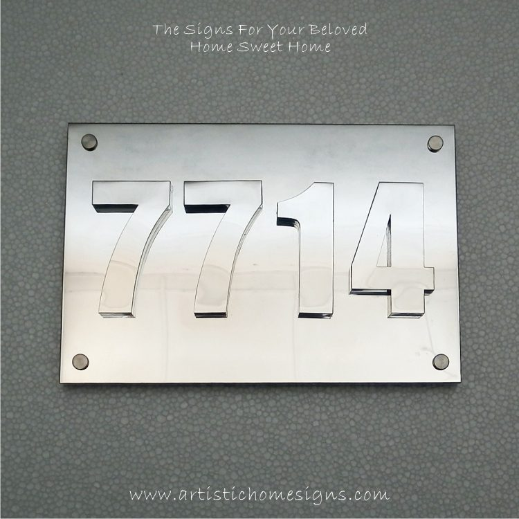 3D Numbers Address Sign Plaque 7714