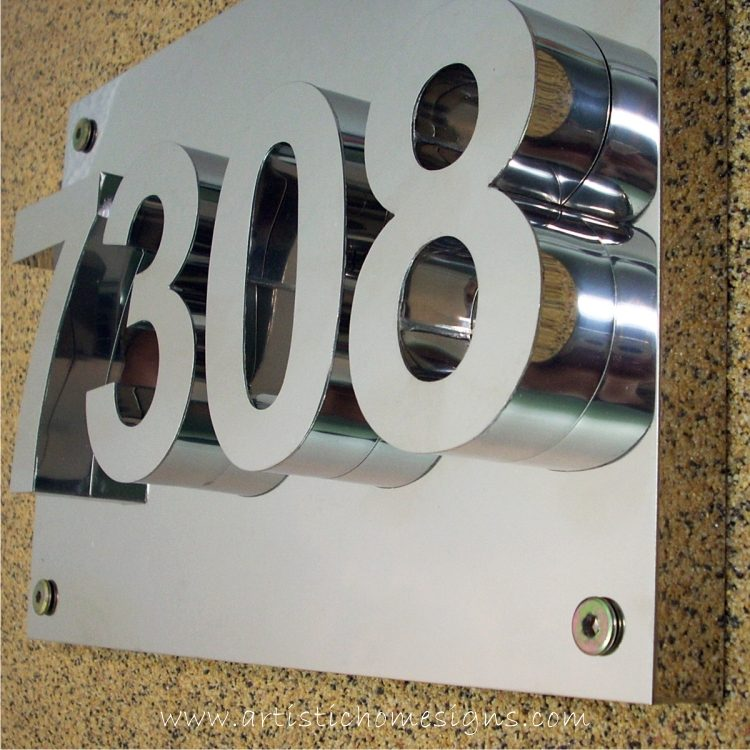 3D Numbers Address Sign Plaque 7308