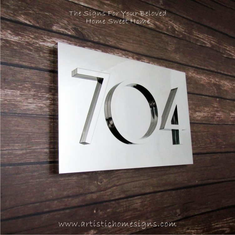 3D Numbers Address Sign Plaque 704