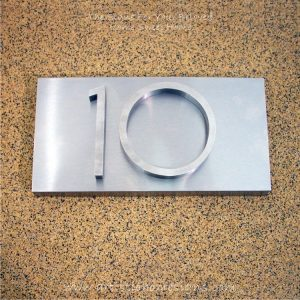 3D Stainless Steel Numbers Address Sign Plaque 10 02