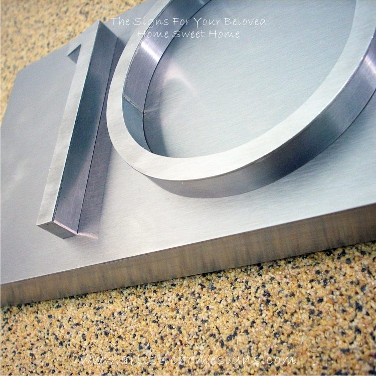 3D Stainless Steel Numbers Address Sign Plaque 10 03