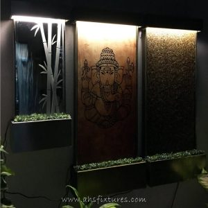WWG-410 Bamboo Art Glass Mirror Etching Wall Fountain 07