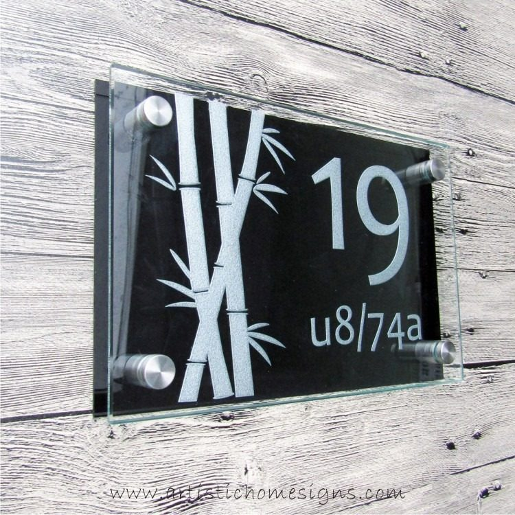 Etching Glass Sign Silver Letters Black Board