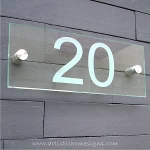 Etching Glass Sign White Letters