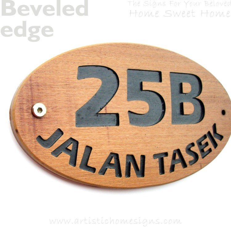 WDO-145 Wooden Sign Black Letters 25B