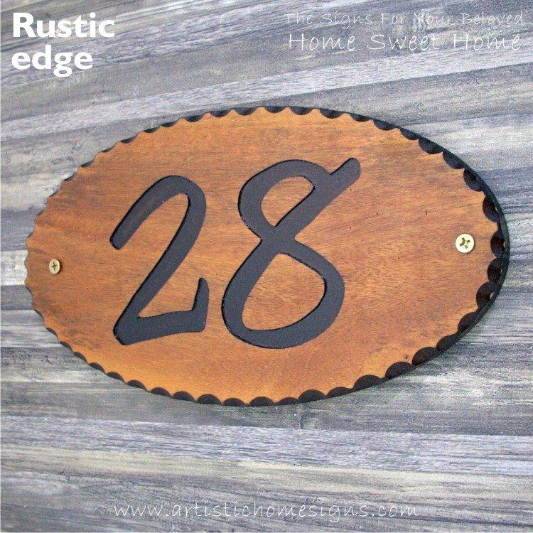 WDO-145 Wooden Sign Black Letters 28