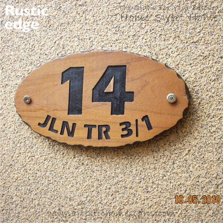 WDO-145 Wooden Sign Black Letters 14