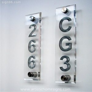 Crystal Clear Acrylic With Silver Letters