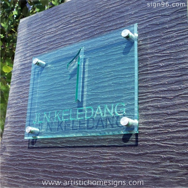 Tinted Green Acrylic With Clear Letters