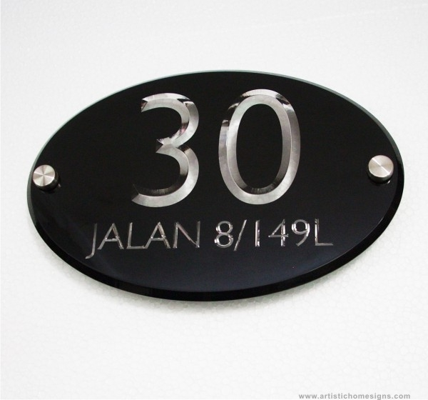 Black Acrylic With Clear Letters