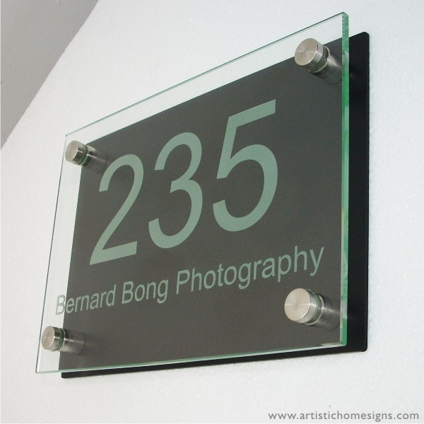 Etching Glass Sign White Letters With Black Board
