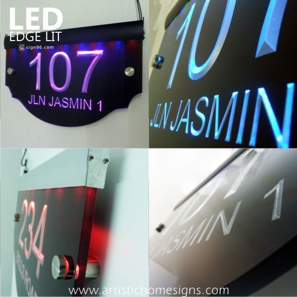 LED Edge Lit Glow Engraving Acrylic Signs